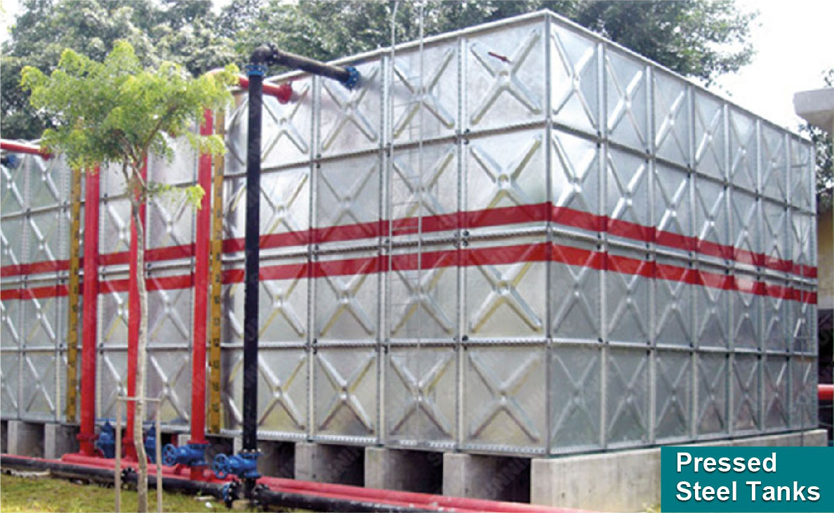 Pressed Steel Sectional Panel Tanks