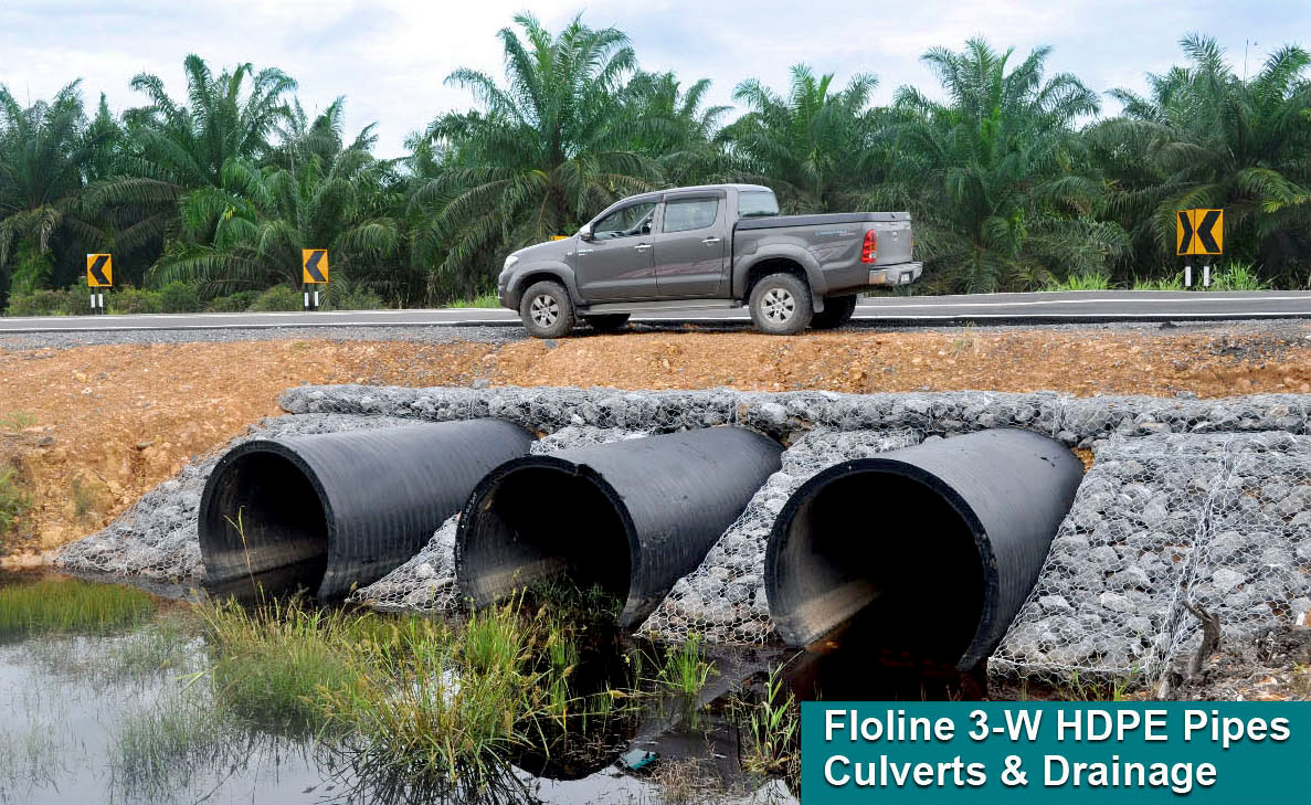 FLOLINE 3-W® Triple Wall Profiled Drainage Pipe Network