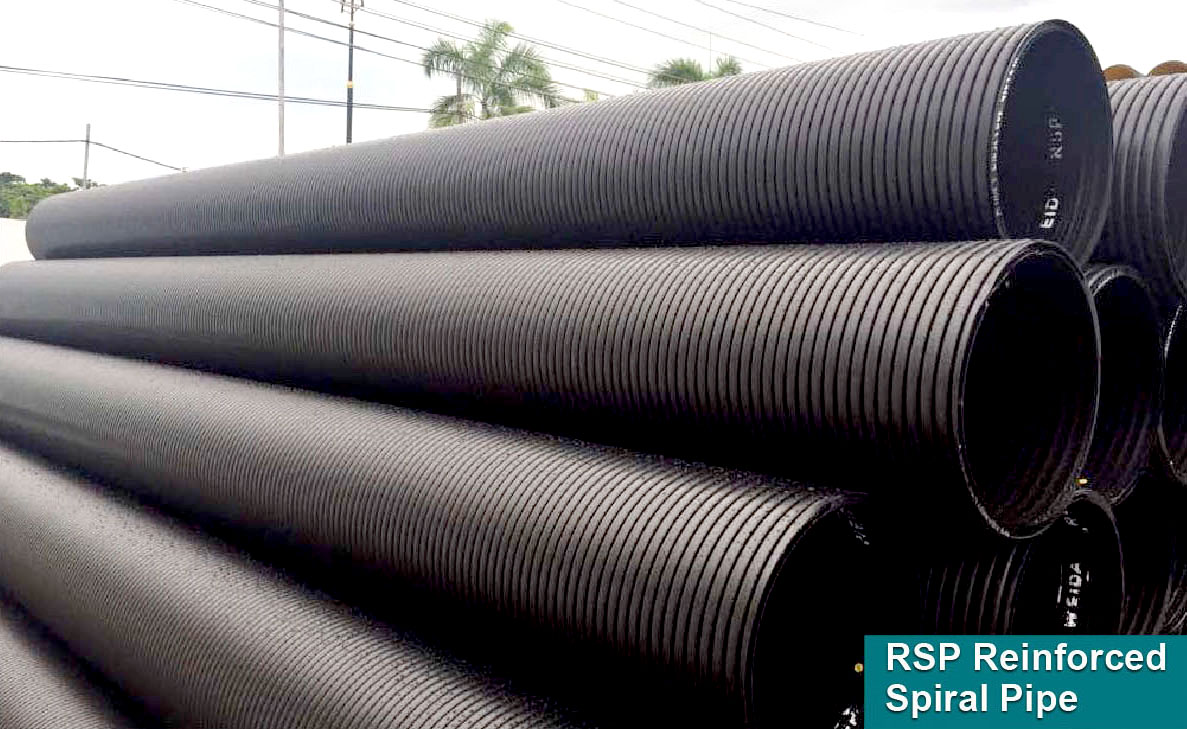 RSP Reinforced Spiral HDPE Pipe